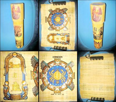 5852-I-Papirus vintage RAC in cutie originala. foto