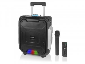 Boxa Bluetooth Activa Portabila Blow cu Microfon si Telecomanda, Functie Karaoke, Putere 100W, Radio FM, USB, AUX, Card SD