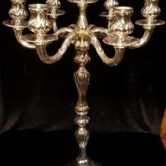 Sfesnic din argint cu 7 lumini