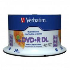 Mediu optic Verbatim BLANK DVD+R DL 8X 8.5GB 50 bucati