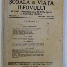 SCOALA SI VIATA ILFOVULUI - REVISTA TRIMESTRIALA DE PEDAGOGIE SI CULTURA LOCALA , ANUL IV , NR . 3 , IANUARIE - MAIU , 1939