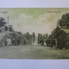 Rara! Calafat,vederea tunelului,carte postala circulata 1931