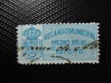 SPANIA 1876 TIMBRU FISCAL LOCAL, Stampilat