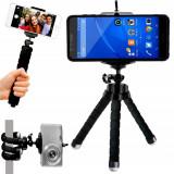 Suport Trepied Flexibil Multifunctional pentru Telefon sau Camera Video, Culoare Negru