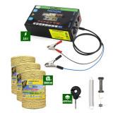 Pachet Gard Electric 2,5J putere + 3000m Fir cu 3 lițe