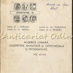 Algebra Liniara, Geometrie Analitica Si Diferentiala Si Programare II