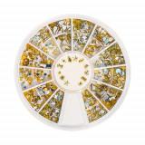 Decorațiuni metalice în cutie - diverse modele – aurii