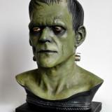 Frankenstein Life Size bust Boris Karloff 44 cm inaltime, UNICAT, custom paint