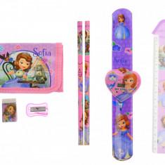 Set ceas, pentru copii, cu Sofia, portofel si rechizite cadou - COCOB8011607