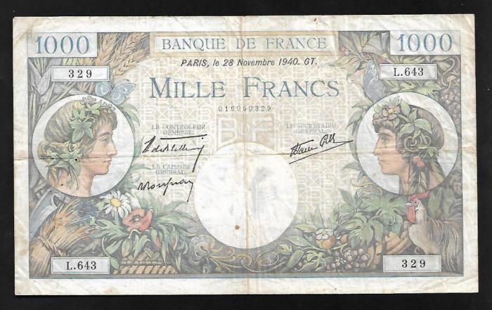 Franta 1000 francs 1940