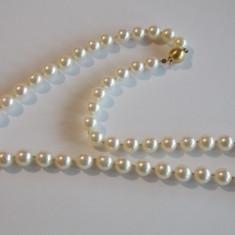 Colier din perle naturale cu inchizatoare din aur de 18k(3018)