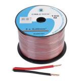 Cablu difuzor CCA 2x0.20mm rosu/negru 100m