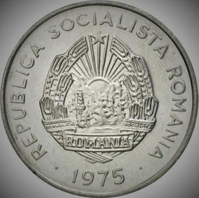 Moneda 15 BANI - RS ROMANIA, anul 1975 *cod 211 A.UNC - ALUMINIU! foto