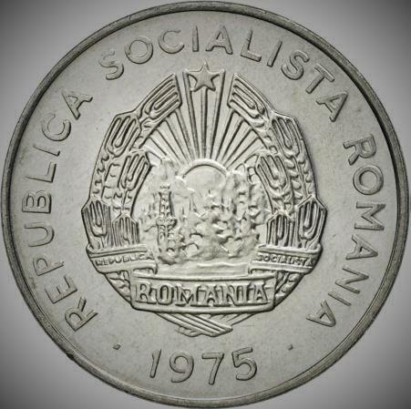 Moneda 15 BANI - RS ROMANIA, anul 1975 *cod 211 A.UNC - ALUMINIU!