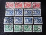 Austria-timbre Porto 1935-serie completa-stampilate, Stampilat