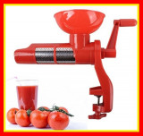 Masina Suc rosii sos Rosii Masina manuala PLASTIC Storcator manual rosii cu sita
