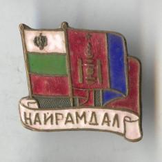 Insigna Heraldica - Steag - MONGOLIA si BULGARIA - email la cald - SUPERBA