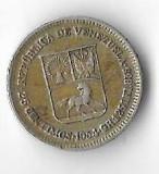 Moneda 25 centimos 1954 - Venezuela, 1,25 g argint 0,835, Europa