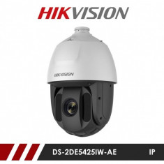 Camera supraveghere Hikvision Ultra HD IP Speed Dome DS-2DE5425IW-AE, 4 MP, IR 150 m, 4.8 - 120 mm, 25x + suport card microSD