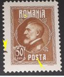 Cumpara ieftin Eroare Romania 1926    LP 74, Ferdinand 50bani cu cerc in afara chenarului mnh, Nestampilat