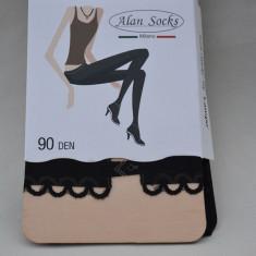 Ciorap pantalon de dama, culoare neagra, cu model deosebit