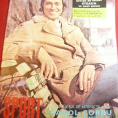 Revista Sport 1973 cu Fotografia lui Carol Corbu Campion Atletism ,si Steaua