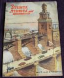 STIINTA SI TEHNICA Nr 40 / 1952 proletcultism, ilustratii grafica propaganda RPR