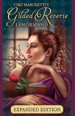 Carti tarot Gilded Lenormand + Mystical Lenormand +cadou  un set de rune foto