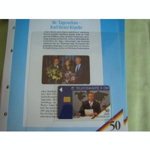 3 Cartele Telefonice 50 Jahre Deutschland - Exponate NOI / 15