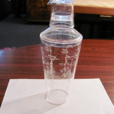 CY - Shaker plastic dur transparent pt. diverse cocktailuri / 600 ml / nefolosit