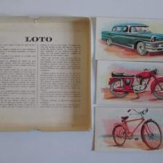Premiile 1,2 si 3. LOTO Vintage, pe Carton - Anii '60