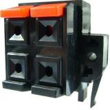 Conector boxe 4 pini, montare pe panou - 123682