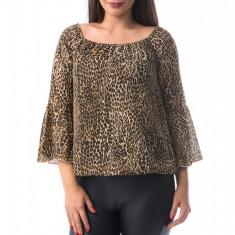 X734-8 Bluza vaporoasa cu imprimeu animal print