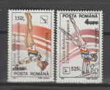 1994 ROMANIA  GIMNASTICA serie 2 val. cu ST (eroare-compioana) LP.1355 MNH**