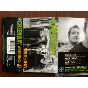 green day warning caseta audio muzica punk pop rock reprise records germany 2000