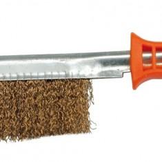 Perie de sarma din alama cu maner din plastic VOREL