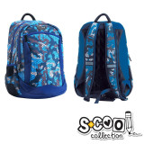 Ghiozdan Compartiment Laptop, BLUE MILITARY, 43x27x15cm - S-COOL