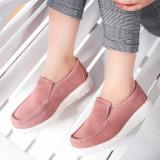 Mocasini casual Piele dama roz Sibaria