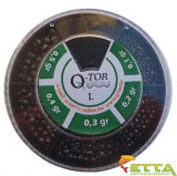 Q-tor - Set plumbi diferite dimensiuni nr. I. alice taiate rotunde mici 0,1-0,5g