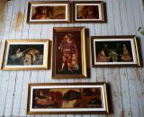 Colectie 6 lucrari (tablou) Petre Velicu, Scene gen, Ulei, Altul