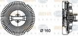Vascocuplaj / Cupla ventilator radiator BMW Seria 7 (E65, E66, E67) (2001 - 2009) HELLA 8MV 376 733-021
