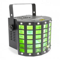 Beamz RADICAL 2, efecte 3în1, 4 x 3W LED RGBW, LASER roșu / verde, 4 canale DMX
