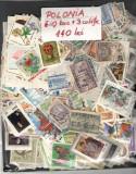 POLONIA 1.Lot peste 780 buc. timbre stampilate+3 buc. colite