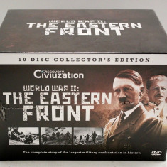 """Set 10 DVD """"WORLD WAR II: THE EASTERN FRONT"""", 10 DISC COLLECTOR'S EDITION, Altele, discovery channel"""