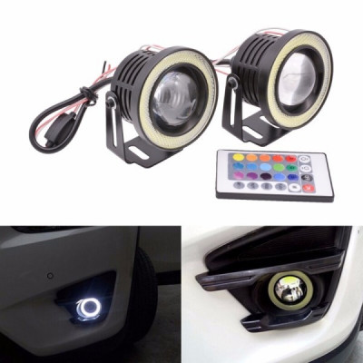 Proiectoare LED RGB cu Angel Eyes 89mm foto