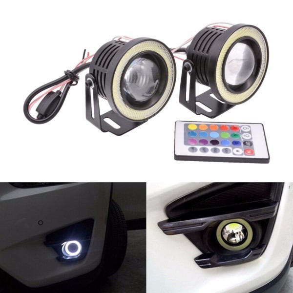 Proiectoare LED RGB cu Angel Eyes 89mm