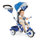 Tricicleta pentru copii Little Tikes Perfect Fit 4 in 1 Albastra, Multicolor