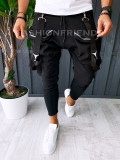 Pantaloni VAGABOND - de trening pentru barbati - slim fit - gri - A6317
