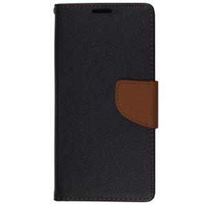 Husa SAMSUNG Galaxy S6 Edge - Fancy Book (Negru&Maro)