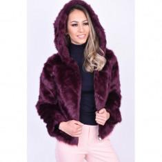 Geaca Pufoasa Vero Moda Lux Hoody Faux Fur Visiniu, L, M, S, XL, XS